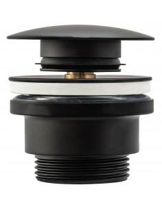 Korek Umywalkowy Uniwersalny Klik-Klak Black Czarny Mat