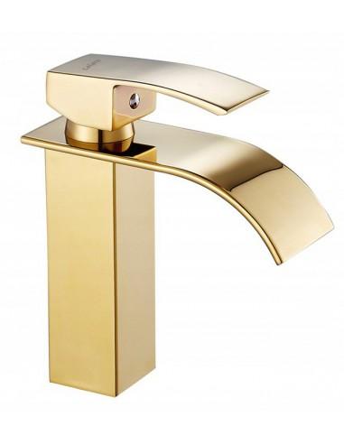 Bateria Umywalkowa Lotus Gold Złota...