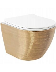 Misa WC Podwieszana Carlo Flat Gold Brush