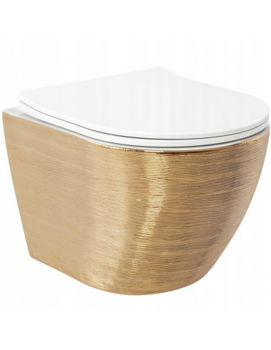Misa WC Podwieszana Carlo Flat Gold...