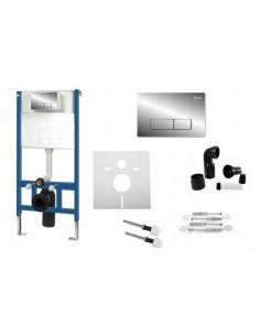 Zestaw Stelaż Podtynkowy WC UltraSlim Przycisk