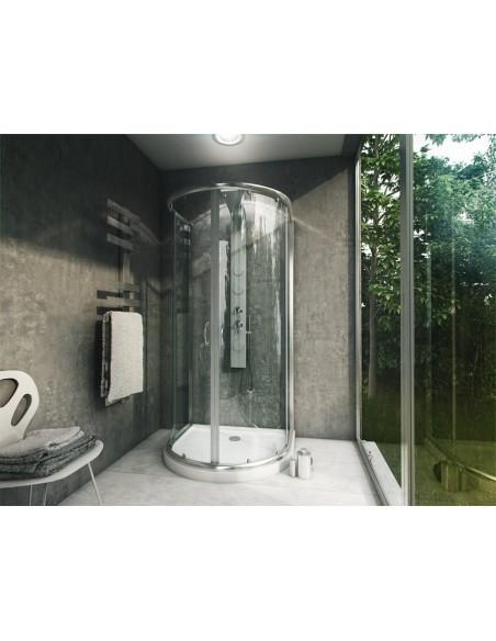 Kabina Prysznicowa Przyścienna Roma 90 x 100 cm